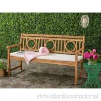 Safavieh PAT6736A Outdoor Collection Montclair 3 Seat Bench Teak Brown/Beige - B01N11LM50