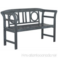 Safavieh PAT6743B Outdoor Collection Moorpark 2 Seat Bench  Ash Gray - B01EYQCHEW