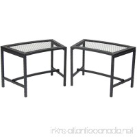 Sunnydaze Black Mesh Patio Fire Pit Bench  23 x 16 Inch - 2 Benches - B00KDPGQF0