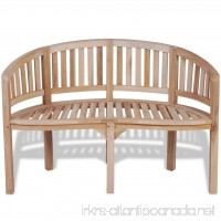 vidaXL Patio Garden Teak Curved Banana Wooden Bench Chair Seat Outdoor 2-Seater - B071S1HJYT