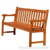 Vifah Baltic Eco-friendly 5-foot Outdoor Wood Garden Bench - B00M0GK7SM