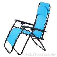 Bifast Adjustable Heavy Duty Lounger Reclining Patio Beach Chair with Headrest Pillow - B074Z7XHTP