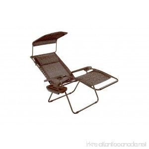 Blissliving Home Bliss Hammocks Gravity Recliner W/Covered Bungee Brown Jacquard - B01M0WM6S5