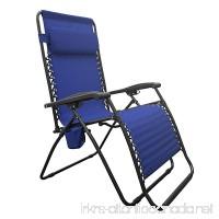 Caravan Sports BGC01021 Infinity Big Boy Zero Gravity Chair Lounge Blue - B07788MV5Z
