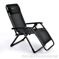 Niceway Zero Gravity Chair  Foldable Recliner Chair with Headrest Pillows-380lbs Capacity Black - B074NZMMCV