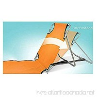 Originals Collection Portable Beach Mat Lounge Folding Chair  Adjustable Reclining Back  Folds Flat To Carry Or Store (Orange) - B07DV7BRCX