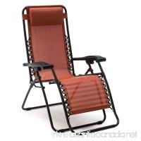 Premium Patio Chairs Zero Gravity Chair Caravan Canopy Lounge Outdoor Folding Recliner Terra Cotta - B00Y6MFM2E