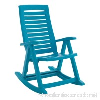 BrylaneHome Foldable Rocking Chair (Aqua 0) - B019WMC27A