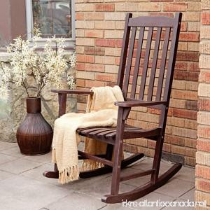 Coral Coast Indoor or Outdoor Mission Slat Rocking Chair Dark Brown - B01DU1W170