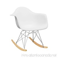 Ergo Furnishings Mid-Century Eiffel Tower Molded Plastic Rocker Rocking Chair White - B074VZVMVZ
