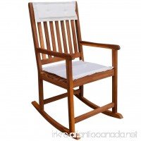 Festnight Garden Plantation Porch Rocker/Rocking Chair Acacia Wood - B073QPZPBQ