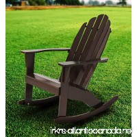 Fullrich Industries Co Wood Adirondack Rocking Chair Dark Brown - B07CR8FSXL