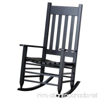 Hinkle Chair Company Painted Plantation Rocking Chair  Black - B01LQ4DM6C