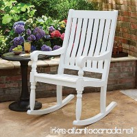 Member's Mark Painted Wood Porch Rocker (White) - B06XVB3RTP