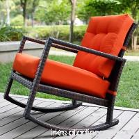 Merax Cushioned Rattan Rocker Chair Rocking Armchair Outdoor Patio Wicker - B01GH1A2UI