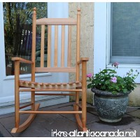Oliver and Smith - Nashville Collection - Wooden Oak Patio Porch Rocker- Rocking Chair - Made in USA - 24.5 W x 33 D x 46 H - B0758467JT