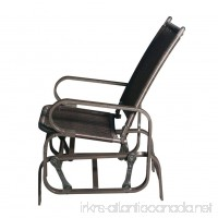 Patio Wicker Gliders Steel Frame Rocking Chair for Outdoor Inside(Black) - B07B7M3CDS