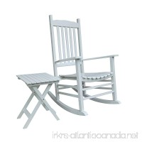 Rockingrocker - S001WT White Porch Rocker With Side Table - Set of 2 pcs Good Price!!! - B077STLGJ3