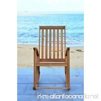 Safavieh Outdoor Collection Clayton Look Rocking Chair Teak Brown - B00PYN2ZK6