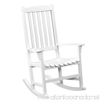 Southern Enterprises Eucalyptus Porch Rocking Chair  White Finish - B004XUX3NO