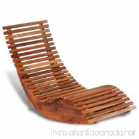 vidaXL Patio Outdoor Rocking Chair Acacia Wood Porch Rocker Garden Furniture - B071RRMT5Z