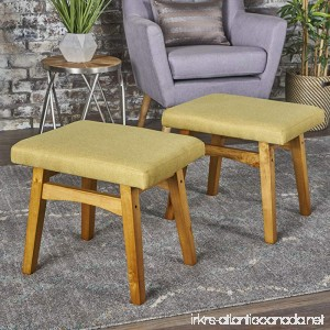 Analise Foot Stool Ottoman | Mid Century Modern Danish Design | Upholstered in Grey Fabric (Set of 2) - B075HTS1ZB
