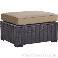 Crosley Furniture KO70127BR-MO Biscayne Outdoor Wicker Ottoman Cushions Mocha - B074QMPWZ1