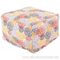 Majestic Home Goods Blooms Ottoman Large Citrus - B00DJWD1U2