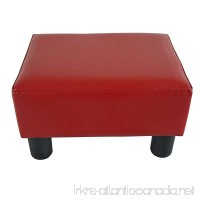 New MTN-G Modern Faux Leather Ottoman Footrest Stool Foot Rest Small Chair Seat Sofa Couch-wine red - B0763LTX2M