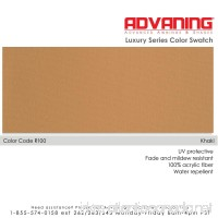 ADVANING Luxury Series COLOR SWATCH SAMPLE - Awning Fabric Sample Color Khaki (R100) - B06X9G42FV