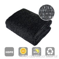 Agfabric 50% Sunblock Shade Cloth Cover with Clips for Plants 6.5' X 30'  Black - B00LH1BT24