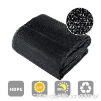 Agfabric 80% Sunblock Shade Cloth Cover with Clips for Plants 13' X 16'  Black - B01EV0GTZE