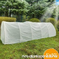 Agfabric Row Cover Plant Shade  0.55oz Fabric of 5x50ft Plant Cover for Bug Barrier - B07F8VVV5R