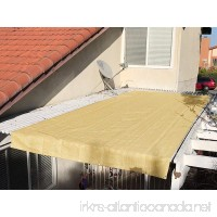 Alion Home Pergola Shade Cover Sunblock Patio Canopy HDPE Permeable Cloth with Grommets (12' x 12' Sand) - B07F7L56X5