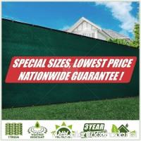 ColourTree Fence Screen Privacy Screen Green - Commercial Grade 170 GSM - Heavy Duty - 3 Years Warranty (1 6' x 100') - B075RRDY55
