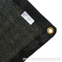 E.share 40% UV Shade Cloth Black Premium Mesh Shadecloth Sunblock Shade Panel 12ft x 10ft - B00XVY9GFC