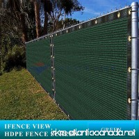 Ifenceview 4'x5' to 4'x50' Green Shade Cloth/Fence Privacy Screen Fabric Mesh Net for Construction Site  Yard  Driveway  Garden  Railing  Canopy  Awning 160 GSM UV Protection (4'x5') - B077ND3VKN