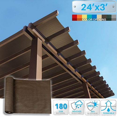 Sunblock Shade Cloth Roll Brown