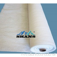 SHANS 30% UV Resistant Fabric Shade Cloth Pure White With Clips Free (10 ft x 20 ft) - B079P6T6C6
