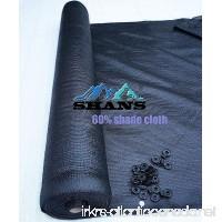 SHANS New Design 60% UV Black Shade Cloth Sunscreen Fabric with Clips Free (10 ft x 6 ft) - B0761LKKFB