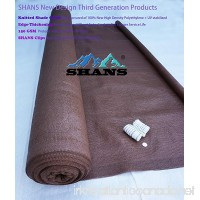 SHANS New Design Brown 90% UV Shade Fabric For Patio 6Ft by 10Ft with Plastic Grommets Clips Free - B01H1J6IO4