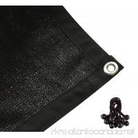 Shatex 90% Shade Fabric Sun Shade Cloth with Grommets for Pergola Cover Canopy 12' x 12' Black - B00YOZA2GO