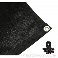 Shatex 90% Shade Fabric Sun Shade Cloth with Grommets for Pergola Cover Canopy 6' x 20'  Black - B00XMRP34Q