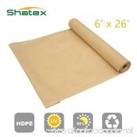 Shatex 90% Sun Shade Fabric for Pergola Cover Porch Vertical Screen 6' x 26'  Beige - B015261CH6