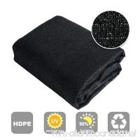 Shatex 90% Sun Shade Fabric for Pergola Cover Porch Vertical Screen 8' x 12' Black - B015GMBM80