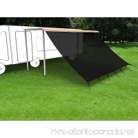 Shatex RV Awning Shade with 90% Privacy Screen Free Kit 8' x 10'  Black - B01JY3IMIK