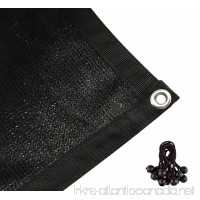 Shatex Shade Fabric Sun Shade Cloth with Grommets for Pergola Cover Canopy 8' x10'  Black - B00XMB9FR8
