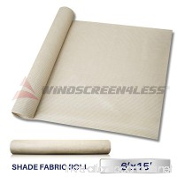 Windscreen4less Beige Sunblock Shade Cloth 95% UV Block Shade Fabric Roll 6ft x 15ft - B00NQGNXOA