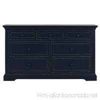 Evolur Parker double dresser  Distress Navy - B0794RDLJG