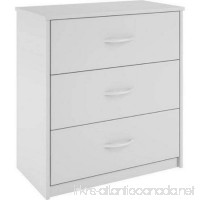 Mainstays 3-Drawer Dresser 3 easy-glide drawers (White) - B01M8MS4MC
